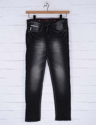 Nostrum dark wash effect black jeans