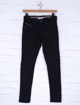 Nostrum navy denim fabric jeans