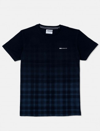 Octave presented navy checks t-shirt