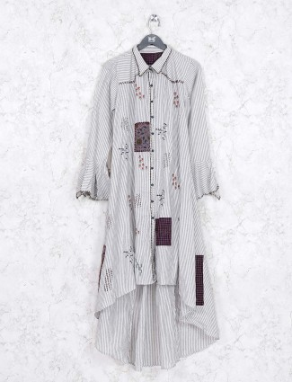 Off white cotton casual lovely kurti
