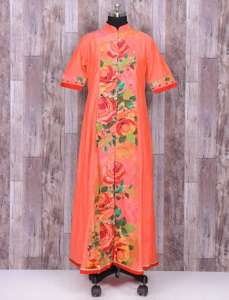 Palazzo suit in peach color for festive