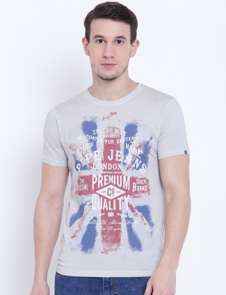 Pepe Jeans cotton casual wear grey t-shirt