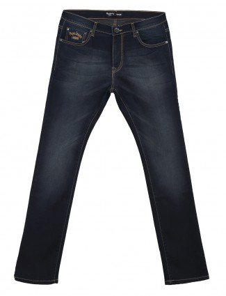Pepe Jeans denim men plain navy vapour fit jeans