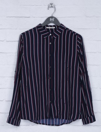 Pepe Jeans navy stripe pattern top