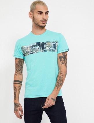 Pepe Jeans new print aqua t-shirt