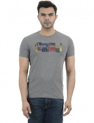 Pepe Jeans printed casual grey t-shirt