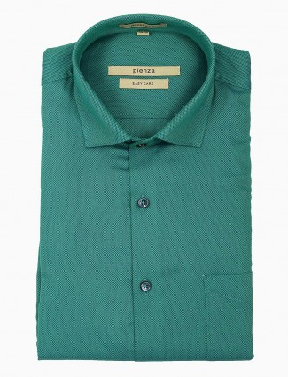 Pienza green hued formal wear shirt