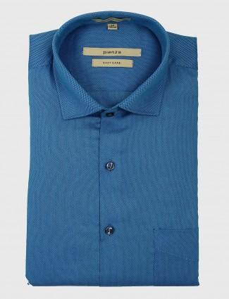 Pienza royal blue cotton shirt