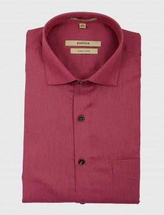 Pienza solid magenta formal shirt