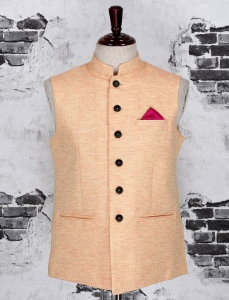 Pink color party waistcoat