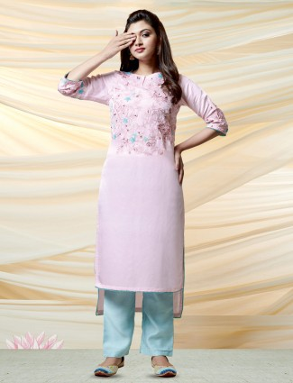 Pink cotton silk pretty kurti