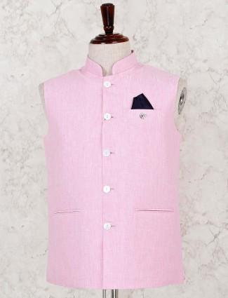 Pink cotton linen stunning waistcoat