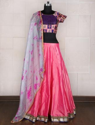 Pink designer silk classy lehenga choli