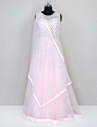 Pink wedding special net gown