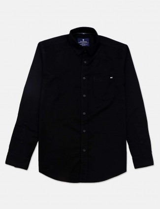 Pioneer black casual wear solid shirt