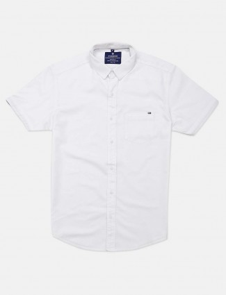 Pioneer white casual shirt