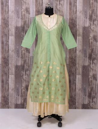 Pista green long kurti