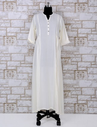 Plain white cotton kurti