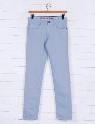 Poison aqua solid nerrow fit mens jeans