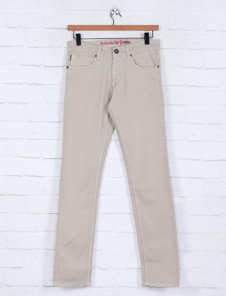 Poison beige slim fit jeans