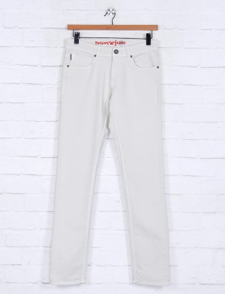 Poison presented latest solid off white jeans