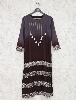 Printed grey new collection tunic