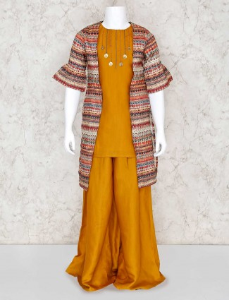 Printed jacket style palazzo suit