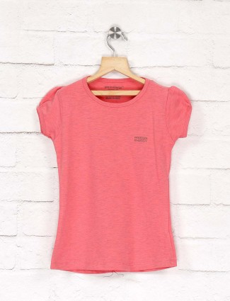 Pro Energy baby pink solid casual wear top