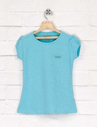 Pro Energy cap sleeves aqua color top