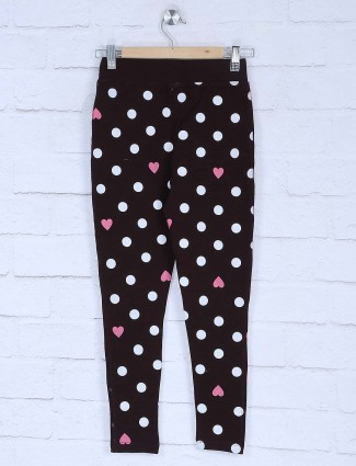 Pro Energy printed brown color jeggings