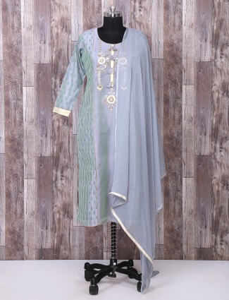 Punjabi suit in dark grey color