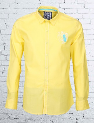 R & C yellow cotton shirt