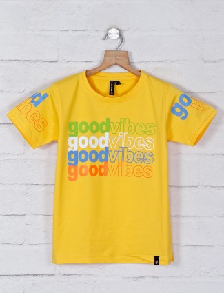 Red Sound yellow cotton t-shirt
