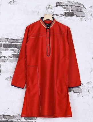 Red wedding kurta suit
