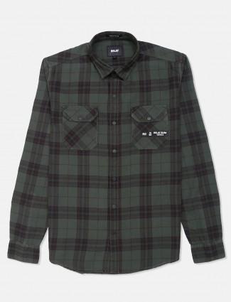 Relay green tweed patern cotton shirt