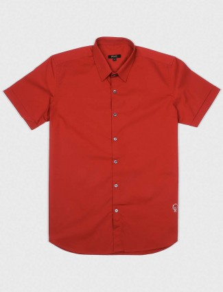 Relay presented red colored solid shirt