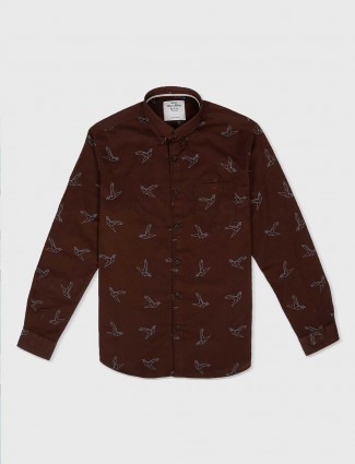 River Blue brown hue shirt