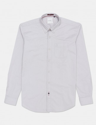 River Blue full sleeves grey solid casual shirt
