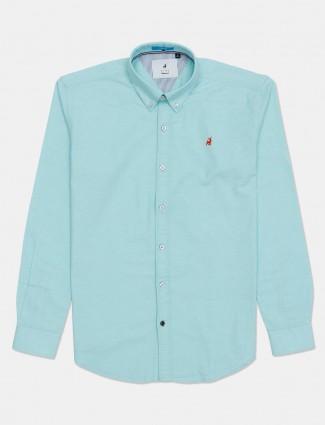 River Blue green casual shirt