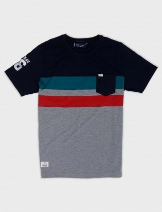 River Blue grey hue cotton fabric t-shirt