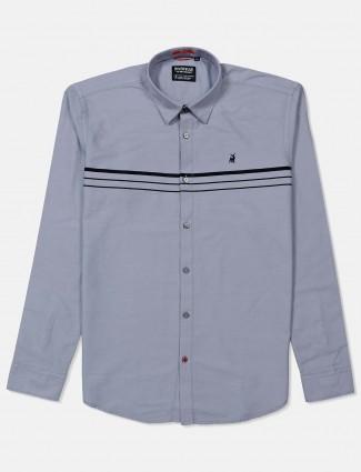 River Blue grey simple casual wear shirt