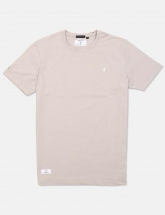 River Blue grey solid cotton t-shirt