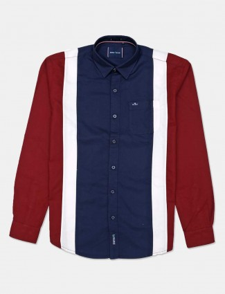 River Blue navy patch pockets cotton shirt