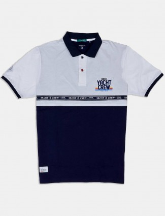 River Blue navy solid latest t-shirt