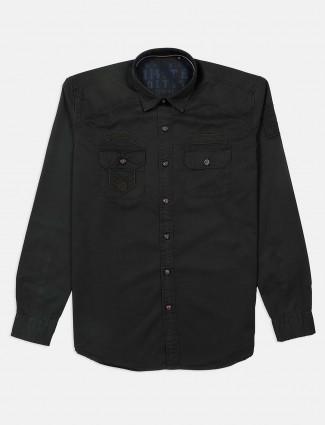 River Blue olive solid solid shirt