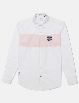River Blue pink and white solid shirt