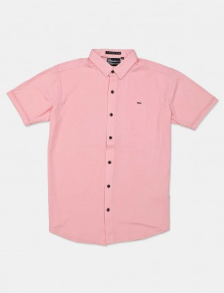 River Blue pink casual wear solid shirt