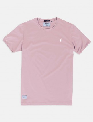 River Blue pink cotton cotton t-shirt