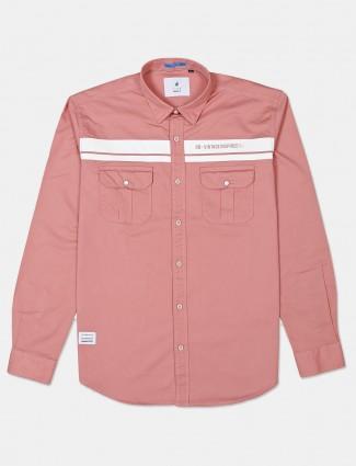 River Blue pink patch pockets cotton shirt