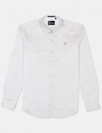River Blue presented casual white solid shirt